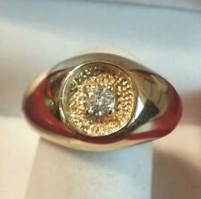 Young Men Boys 14k Solid Gold Genuine Diamond 15 points Solitaire Ring Sz. 8-1/4