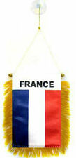 "France Mini Flag 4""x6"" Window Banner w/ suction cup"