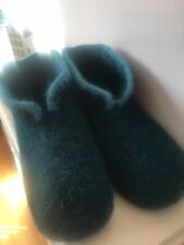Hand Knitted Felted Scandinavian Style Hygge Boot Slippers Size  7