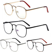 Vintage Retro Metal Alloy Clear Lens Glasses Spectacles Designer Nerd Eyeglass