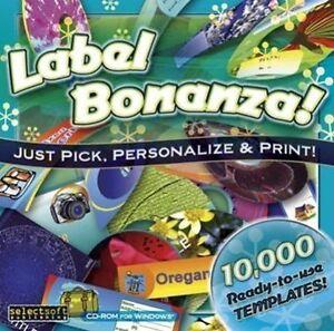 LABEL BONANZA 10,000 ready-to-use designs & 3000 clip art  NEW  Win Vista 7 8 10
