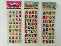 3D Sticker Buchstaben 1-20 Folien Alphabet Schule Aufkleber Kinder Schulanfang