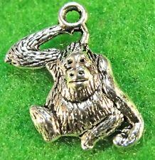 10Pcs. Tibetan Silver MONKEY  APE Animal Charms Pendants Earring Drops AN170