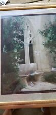 Large Home Interiors Fine Art Picture, Doves Courtyard, Birkenstock Gold Frame