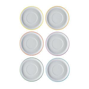 ARZBERG Kaffee-Untertasse 15 cm Cucina Colori Unterteller mit farbigem Rand