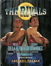 Oscar De La Hoya Vs Genaro Hernandez (The Rivals) 1995 Official Boxing Program