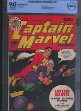 Captain Marvel Adventures # 44 CBCS 9.0  ff White Pages. UnRestored.