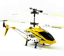 Cheerwing S107G 3CH 3.5CH Mini Metal RC Helicopter with GYRO LED Light Yellow