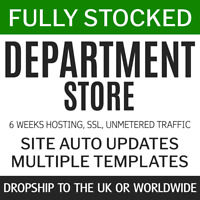 Dropship Department Store UK + World | Fully Stocked eCommerce shop 6w service