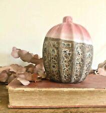 Rustic Pottery Pink Ceramic Pot Bottle Decorative Bud Vase Vintage Style Wedding