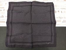 TED BAKER Pocket Square Silk Hankie Black Dotted Handkerchief BNWT RRP£25