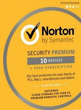 Norton Security Premium | 10 Devices | PC/Mac/Mobile Download Code