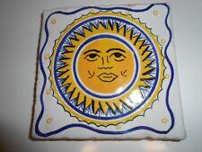 Piastrella in argilla,cotto fatto a mano,decoro tipo ceramica vietri cm. 10x10