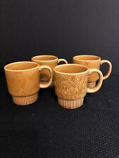 Vintage Rare Stackable Mugs Total Of 4 Made In Japan 1960's-70's Used Condition