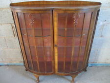Walnut Display Cabinets 20th Century Antique Cabinets