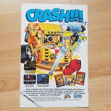 Crash Dummies Pro Am Super Off Road Indy Heat Video Game Advert 1993 Print Ad