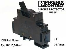 🏴Phoenix contact uk 10,3-hesi DIN rail mount fused overload safety/disconnect