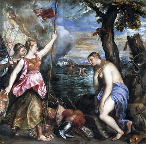 Titian, Religion Saved by Spain, Museum Art Poster, Canvas Print