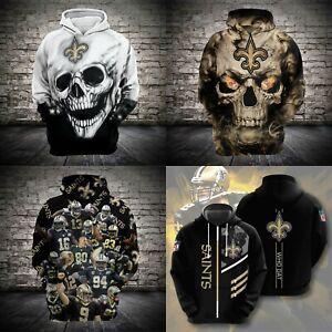 New Orleans Saints Fans Hoodie Football Pullover Sweatshirt Hooded Jacket Gift