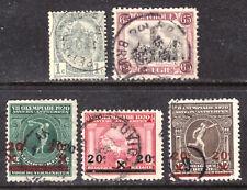 BELGIUM #60,139-142, 1893-1921 LOT/5, F-VF, USED