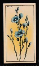 "CWS Tyneal Plug Cigarette Cards ""Wayside Flowers"" 1928 No 38 Flax"