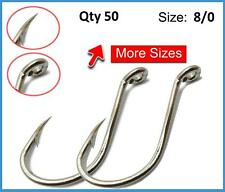 50 x 8/0 CHEMICALLY SHARPENED OCTOPUS / BEAK HOOKS TACKLE FISHING BAIT JIG