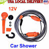 12V Portable Outdoor Automobile Car Shower Kit Water Spray Pump Camping