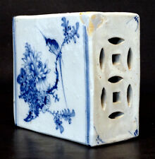 ANTIQUE Vintage CHINESE Hand Painted PORCELAIN PILLOW BLOCK Head Rest / CHINA
