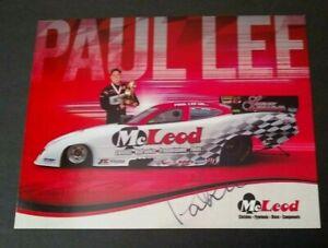 PAUL LEE SIGNED McLEOD F/C LUCAS OIL HANDOUT
