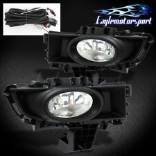 2007 2008 2009 Mazda 3 4Dr Sedan Bumper Fog Lights Pair+Bulbs+WIRING+Switch Kit