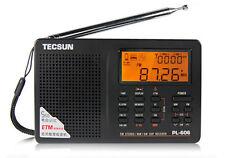 TECSUN PL606 PL-606 Digital Radio Weltempfänger FM/SW/MW/LW Tragbar Schwarz