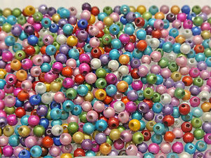 1000 Mixed Color 3D Illusion Acrylic Miracle beads 4mm Spacer