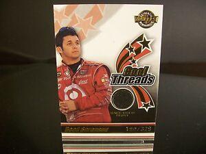 Insert Reed Sorenson Press Pass Cool Threads 2006 Card #CT 1 RACE-USED SHIRT