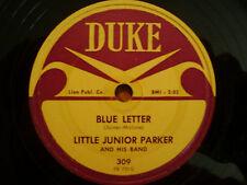 Little Junior Parker/ BLUE LETTER / STRANDED / 78 DUKE Record / VG+ BLUES