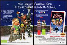 THE MUPPET CHRISTMAS CAROL__Original 1993 Trade print AD movie promo__JIM HENSON