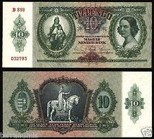 Hungary 10 Pengo 1936 UNC P#100 paper banknote Ungarn