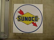 """Vintage Sunoco round gasoline sticker 9"""" diameter"""