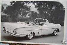 1958 Chevrolet Impala Convertible 3/4 Rear View 12 X 8 Black & White Picture