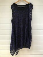 TAKING SHAPE TS Plus Size Mesh Sheer Sleeveless Lagenlook Layering Dress - XL/20