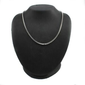 """QVC Steel by Design Stainless Steel box Chain 24"""" Necklace SOLD OUT"""