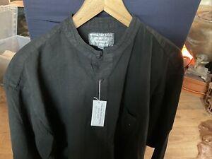 Collarless Shirt Company - Black Shirt XXL BNWT
