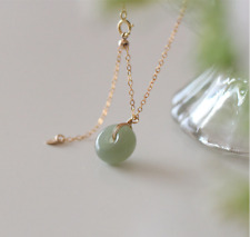 Long Necklace Frosted Jade Gemstones Gold plated CZ Titanium Crystal Point pendant Light Green Pink Turkish Hand Made jewellery  KLY038B