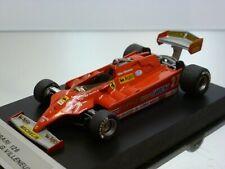 HIFI FERRARI 126CK - GP USA 1981 - VILLENEUVE #27 - F1 RED 1:43 - GOOD on BASE