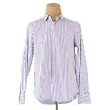 Auth Salvatore Ferragamo Shirt Stripe used L2245