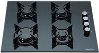 MILLAR GH6040XEB-ET 4 Burner Built-in Gas on Glass Hob 60cm - Enamelled Trivets