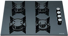 MILLAR GH6040XEB-ET 4 Burner Built-in Gas on Glass Hob 60cm - Enamelled Trivets