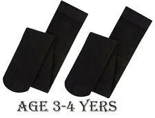 YOUNG GIRLS SOFT WINTER TIGHTS SIZES 3-12 in Black Children School, Party Kids
