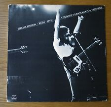 "RUSH SPECIAL EDITION LIVE 1981 US PROMO 12"" VINYL MERCURY MK 188 EXIT STAGE LEFT"