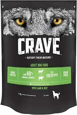 Crave Dry Cat Food High Protein Grain-Free Dog Food Lamb & Beef, 1 kg Pack 3