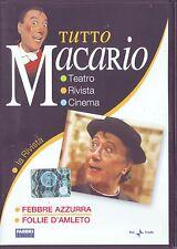 TUTTO MACARIO Febbre Azzurra/Follie D'Amleto -DVD ORIGINALE EDIZIONE 2007